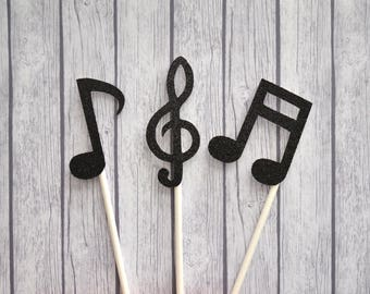 Music Notes Cupcake Toppers, Music Party Cupcake Toppers, Rock Star Party, Musical Birthday, Music Birthday, Rock Star Birthday