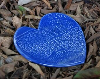 Cobalt Blue Heart Shaped Dish