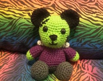 Franken-Teddy: Handmade Crocheted Teddy Bear (Made to Order)