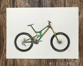 Original Illustration A3- Steve Peat's Tartan Santa Cruv V10