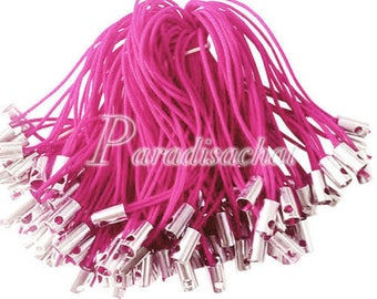 set of 10 Strap / strap pink 5 cm for deco cell phone, NPC or bag