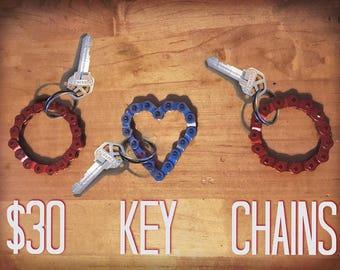 Bike Chain Keychain