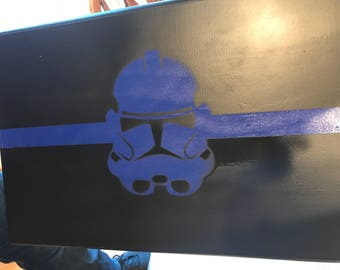 Thin blue line storm trooper