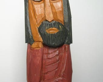 Wood carving of Jesus