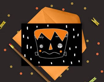 Halloween zombie - digital stamp
