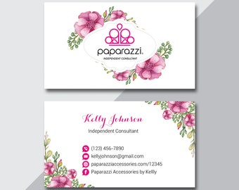 Paparazzi Business Card, Custom Paparazzi Accessories Business Card, Back Office Logo, Fast Free Personalization, Modern Business Card PZ04
