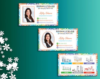 Rodan and Fields Business Cards with Photo, Fast Personalized, Rodan + Fields Independent Consultant, Modern Business Cards RF01