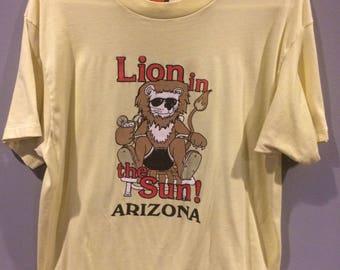 Vintage Arizona Lion in the sun shirt