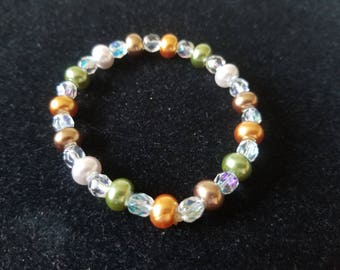 Multicolored Beaded Stretch Bracelet