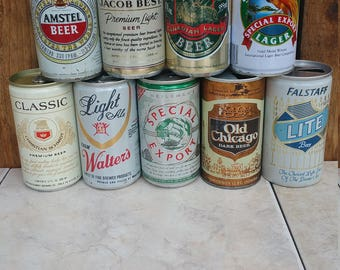 Vintage Beer cans...perfect for any kitchen