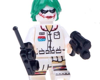 LEGO Inspired Joker In Nurse Uniform Minifigure