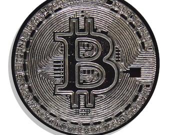 Bitcoin Black Nickel Hard Enamel Pin