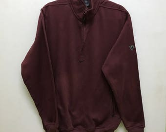 Rare!!! Nike Golf Sweatshirt Pullover Small Logo Embroidered Double Pocket Half Zipper