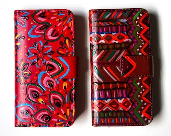 Custom Handpainted IPhone Cases - Two options - Made to Order - Free Worldwide Shipping