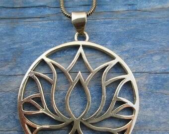 Pendant bronze Lotus flower lotus flower choker