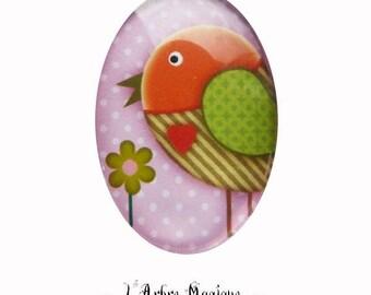 Bird orange green fancy Ref232