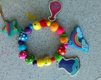 Trolls kids, toddlers bracelet