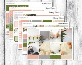 Bunny Kisses // Erin Condren Horizontal // Weekly Sticker Kit // Photography Sticker Kit // Easter Sticker Kit // Spring Sticker Kit