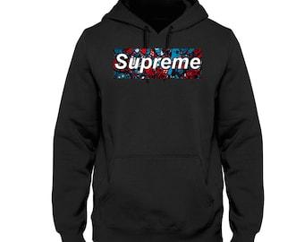Supreme Hoodie Mens Comfort Sweatshirt Hoodie / Handmade Printing / Box logo Hoodies /Gildan