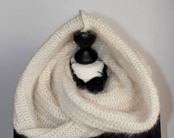 Snood hooded wool for girl