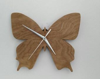 Beautiful butterfly clock