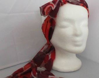 Headband Turban headband Headhand stretchy scarf red orange bow
