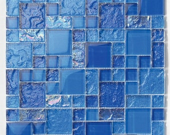 Pool Tile Bahama Mix blue - Tilesanddeco.com