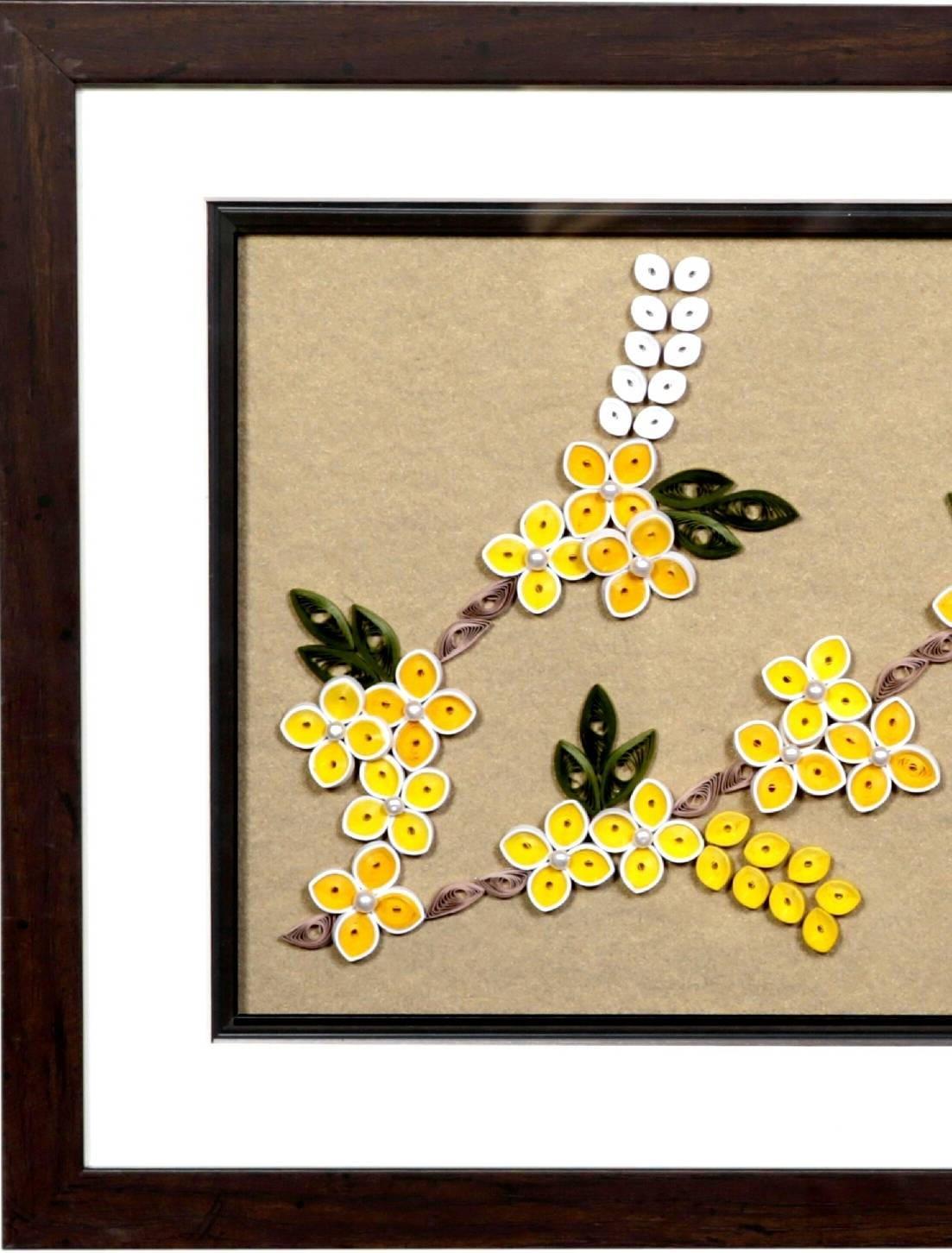 Set of 2 frames of quilling,quilling frame,Framed Art,wall art decor ...