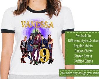 Descendants Birthday Shirt/Descendants Shirt/Descendants Party/Descendants/Descendants Birthday/Descendants Stickers/Descendants Invitations