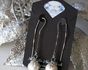 Floating Pearl Earrings (0046)