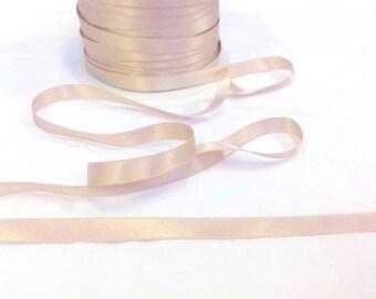 Width 10 mm tone nude satin ribbon