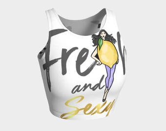 Fresh & Sexy - Athletic / Exercise Crop Top