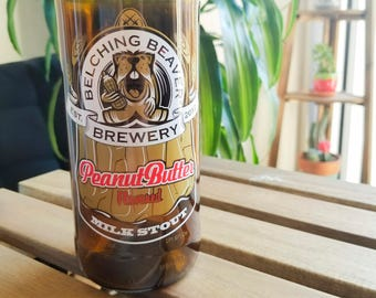 Beer Bottle Glass - Belching Beaver Peanut Butter Milk Stout