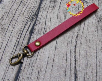 1 x handles attached bag red faux leather wrist strap