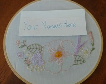 Personalized Wildflower Wall Hanging