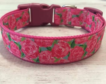 First Impressions Lilly Pulitzer Inspired Dog Collar