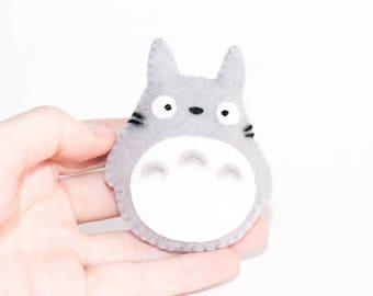 Totoro Studio Ghibli Kawaii Sewn Felt Brooch / Pin