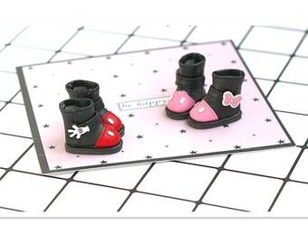 2.8CM BJD Footwear for Doll,Mini Doll Boots 1/8 BJD Doll Shoes for Blythe Azone Pullip Momoko Pukifee Dal Lati Jerryberry Doll Accessories