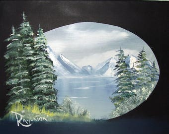 Oil Painting No: 028- Frozen Lake.