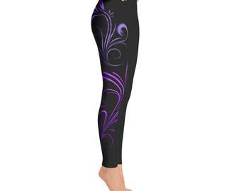Blue/Purple/Black Filigree Legging