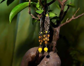 African Tribal Sun Earrings