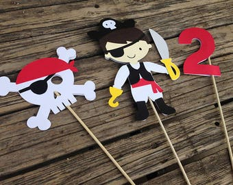 Pirate Party Center Piece Sticks - Table Decorations, Fishing Party, Baby Shower, First Birthday