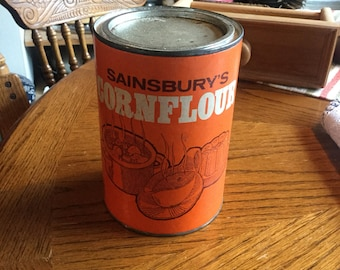 Vintage cornflour tin.