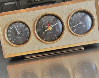 Mid Century Airguide Barometer - Home Weather Station - Thermometer - Hygrometer