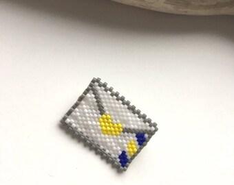 ENVELOPE... Brooch beads Miyuki