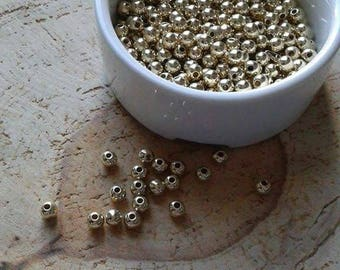 Lot 100 6mm gold beads