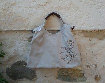 Color beige-Brown handbag