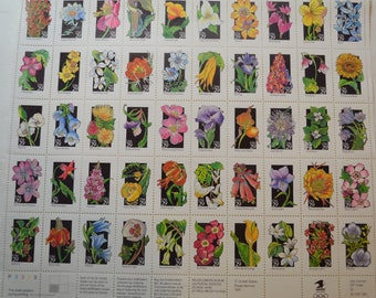Flowers 50 Unused .29 cent Stamps