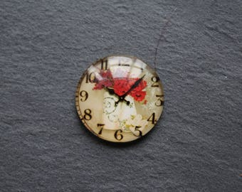 "Cabochon 25 mm glass (planter) ""Clock"""