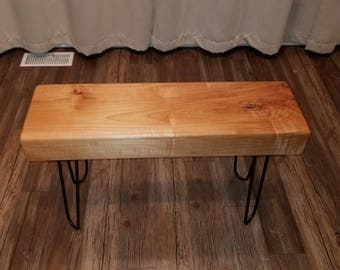 Maple bench etsy spalted maple bench seat sciox Gallery